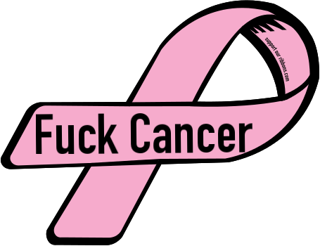 52664 custom ribbon magnet sticker fuck cancer